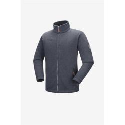 PINEA Herren Strickfleece Jacke SAKU Farbe DARK IRON