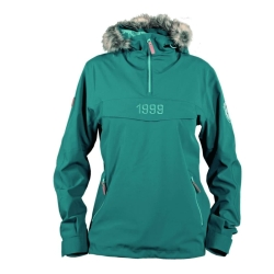 PINEA Damen & Herren Hoodie LAURI Farbe PETROL BLUE in...