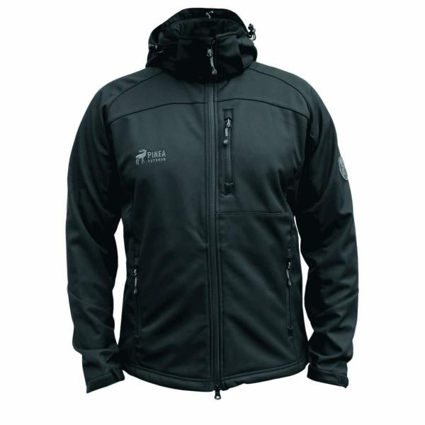 PINEA Herren Softshell Jacke JESSE Farbe BLACK in verschiedenen Größen