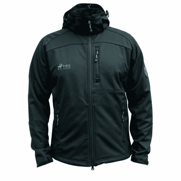 PINEA Herren Softshell Jacke JESSE Farbe BLACK