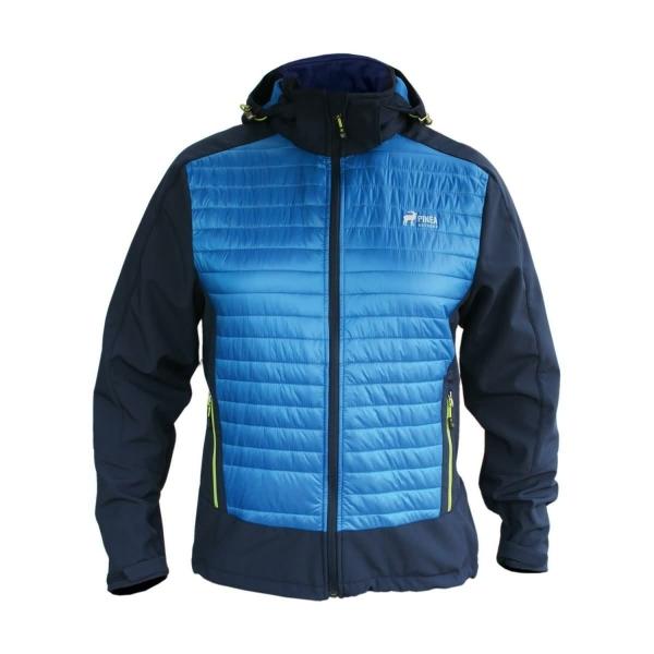 PINEA Herren Hybrid Jacke ELMO Farbe BLAU Größe S