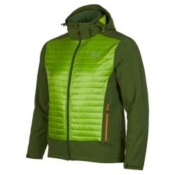 PINEA Herren Hybrid Jacke ELMO Farbe OLIVGRÜN