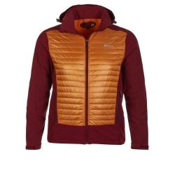 PINEA Herren Hybrid Jacke ELMO Farbe ROT ORANGE