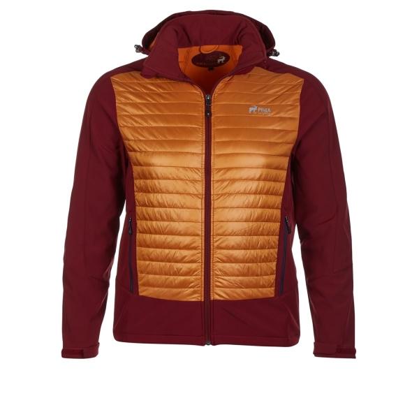 PINEA Herren Hybrid Jacke ELMO Farbe ROT ORANGE Größe S