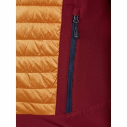 PINEA Herren Hybrid Jacke ELMO Farbe ROT ORANGE Größe L