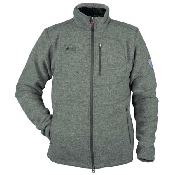 PINEA Herren Wollfleece Jacke JUSSI Farbe DARK GREY Größe S