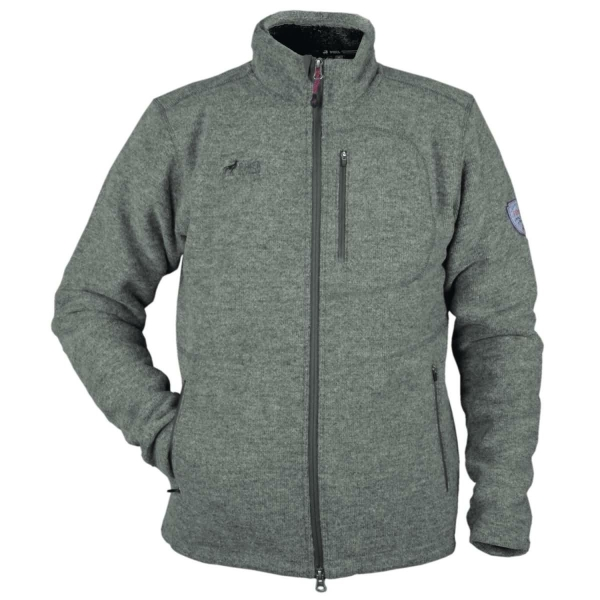 PINEA Herren Wollfleece Jacke JUSSI Farbe DARK GREY Größe 3XL
