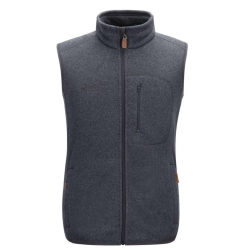 PINEA Damen & Herren Fleece Weste VEETI Farbe DARK IRON