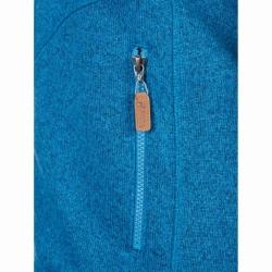 PINEA Damen Strickfleece Jacke MILLA Farbe ADRIABLAU MELIERT