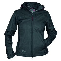 PINEA Damen Softshell Jacke TARJA Farbe BLACK mit...