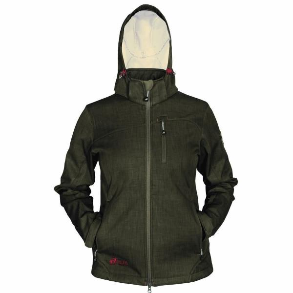 PINEA Damen Softshell Jacke TARJA Farbe NUT BROWN Größe 48