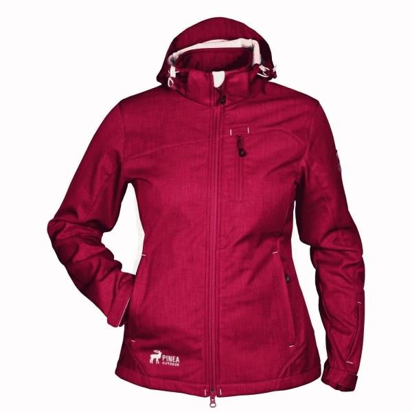 PINEA Damen Softshell Jacke TARJA Farbe RED DAHLIA