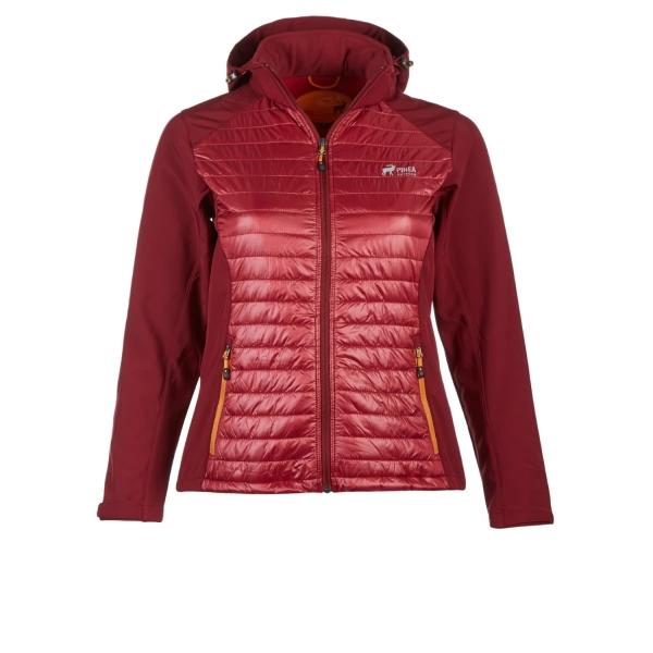 PINEA Damen Hybrid Jacke NINA Farbe WEINROT