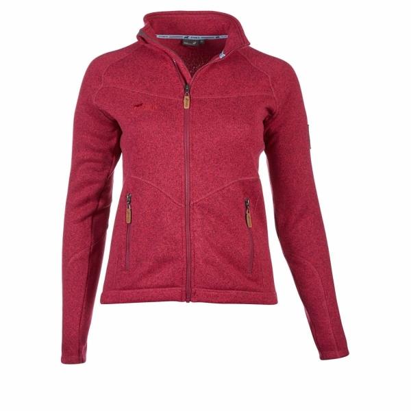 PINEA Damen Strickfleece Jacke MILLA Farbe AZELEA ROT MELIERT Größe 44
