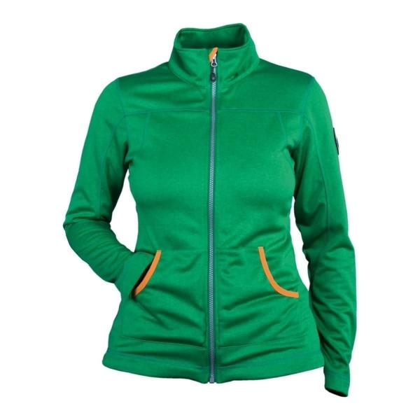 PINEA Damen Softshell Jacke ESSI Farbe GRÜN MELIERT