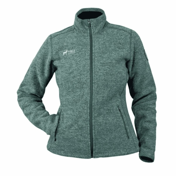 PINEA Damen Wollfleece Jacke VIIVI Farbe DARK GREY