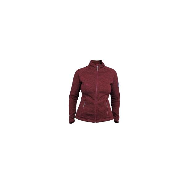 PINEA Damen Strickfleece Jacke MILLA Farbe RED
