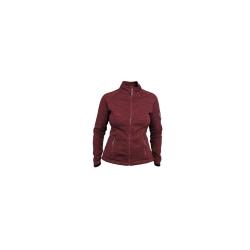 PINEA Damen Strickfleece Jacke MILLA Farbe RED...