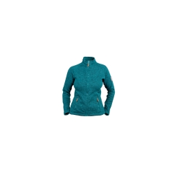 PINEA Damen Strickfleece Jacke MILLA Farbe EMERALD GREEN