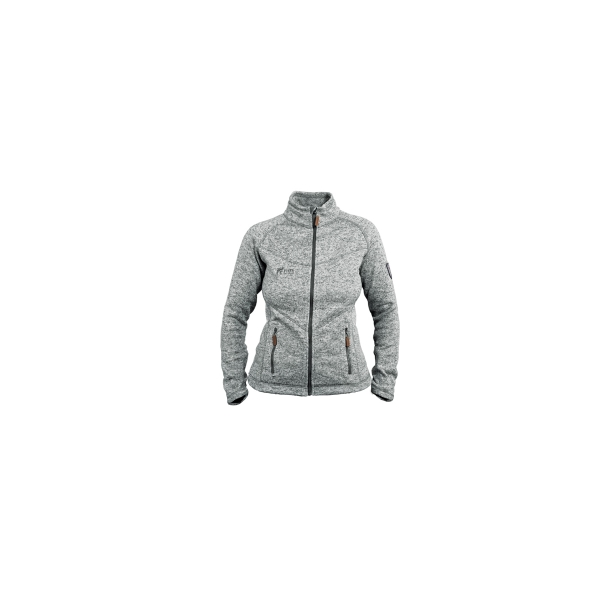 PINEA Damen Strickfleece Jacke MILLA Farbe LIGHT GREY