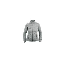 PINEA Damen Strickfleece Jacke MILLA Farbe LIGHT GREY...