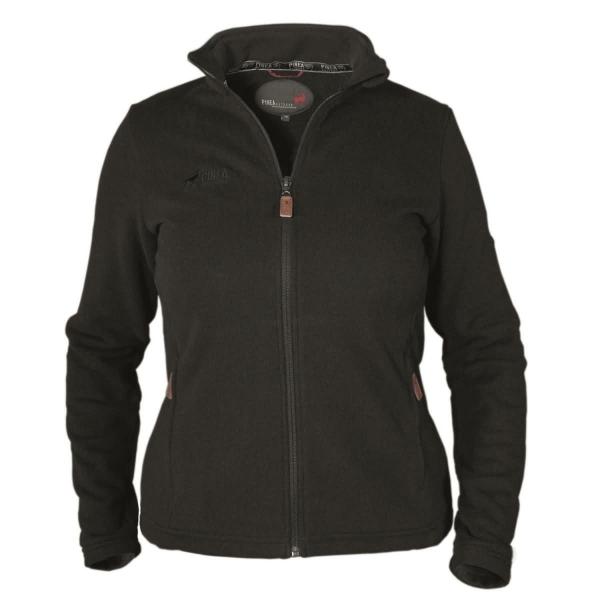 PINEA Damen Strickfleece Jacke MILLA Farbe BLACK