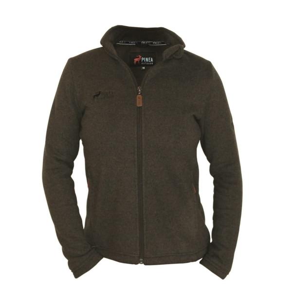 PINEA Damen Strickfleece Jacke MILLA Farbe MOCCA Größe 44