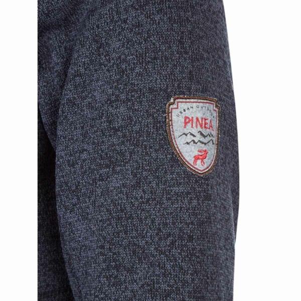 farbe anthrazit pinea damen strickfleece hoodie moona in verschiedenen graaen sockel ral 7016