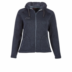 PINEA Damen Strickfleece Hoodie MOONA Farbe ANTHRAZIT in...