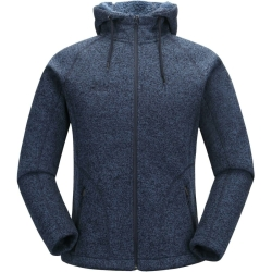 PINEA Damen Strickfleece Hoodie MOONA Farbe NACHTBLAU in...