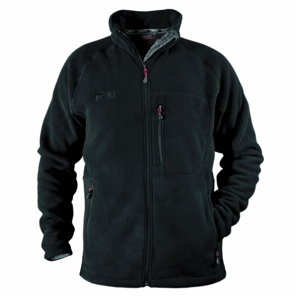 PINEA Herren warme Fleece Jacke JOUNI Farbe SCHWARZ Größe S
