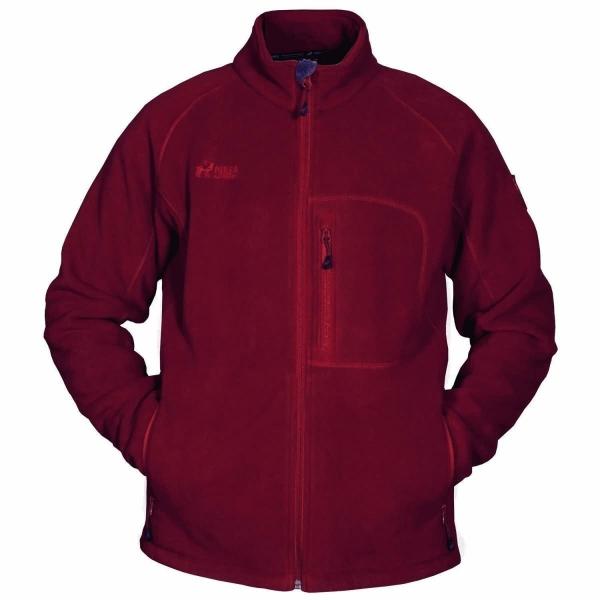 PINEA Herren warme Fleece Jacke JOUNI Farbe ROT