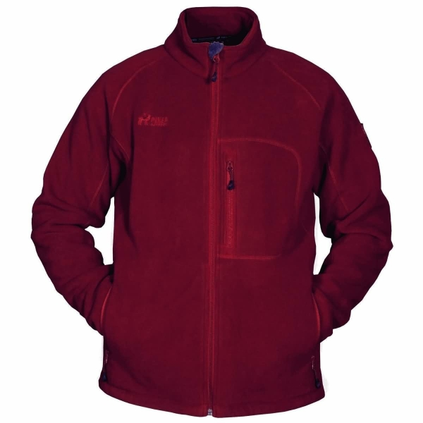 PINEA Herren warme Fleece Jacke JOUNI Farbe ROT Größe M