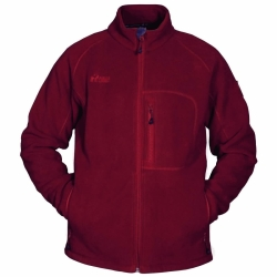 PINEA Herren warme Fleece Jacke JOUNI in Farbe ROT in...