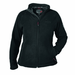 PINEA Damen warme Fleece Jacke MIIA SCHWARZ