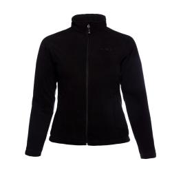 PINEA Damen warme Fleece Jacke MIIA Farbe SCHWARZ