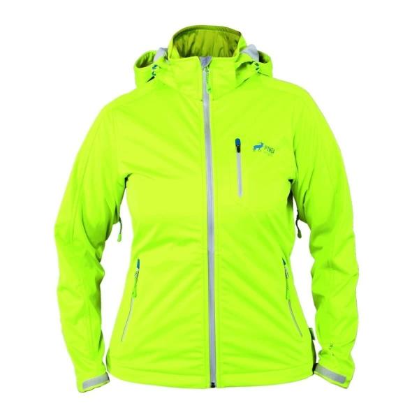 info for 20a87 7d722 PINEA Damen Sommer Softshell Jacke JAANA Farbe LIME in verschiedenen Größen