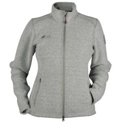 PINEA Damen Wollfleece Jacke VIIVI Farbe LIGHT GREY
