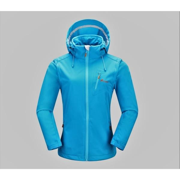 PINEA Damen Sommer Softshell Jacke AINO Farbe BLAU Größe 48
