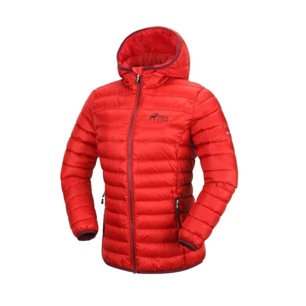 PINEA Damen Daunen Jacke NELLI Farbe ROT-ORANGE