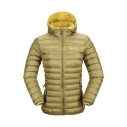 PINEA Damen Daunen Jacke NELLI Farbe OLIVGRÜN Größe 40