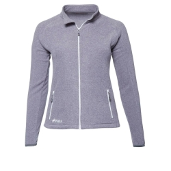 PINEA Damen Fleece Jacke VENLA Farbe HEATHER GREY in...