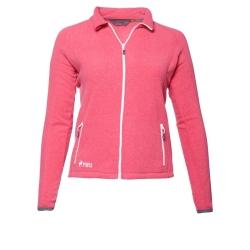 PINEA Damen Fleece Jacke VENLA Farbe CARMINE RED