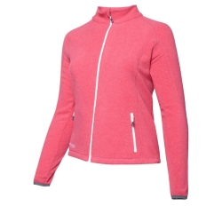 PINEA Damen Fleece Jacke VENLA Farbe CARMINE RED