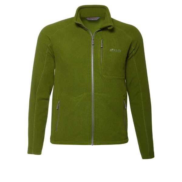 PINEA Herren Fleece Jacke TOMI Farbe CHIVE GREEN