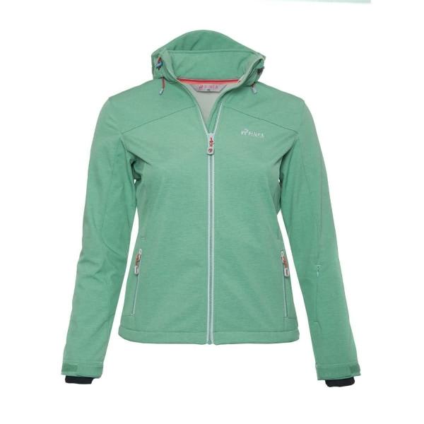 PINEA Damen Softshell Jacke LUMI Farbe DUSTY GREEN Größe 48