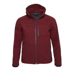 PINEA Herren Softshell Jacke SULO Farbe CABARNET RED in...