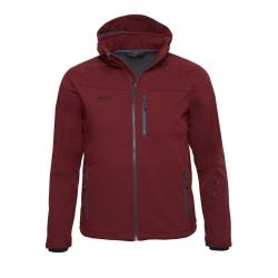PINEA Herren Softshell Jacke SULO Farbe CABARNET RED Größe S