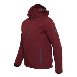 PINEA Herren Softshell Jacke SULO Farbe CABARNET RED Größe L