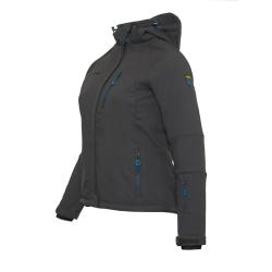PINEA Damen Winter Softshell Jacke AILA Farbe DUNKELGRAU Größe 38